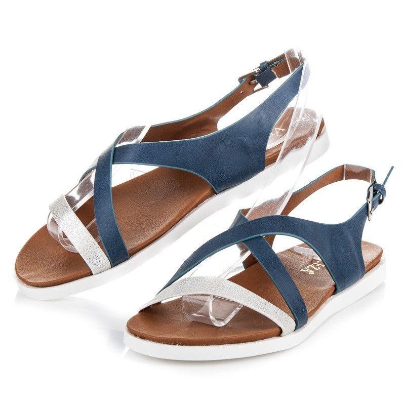 7fb4ed435397 Elegantné sandále VINCEZA JOL17-9910D.BL