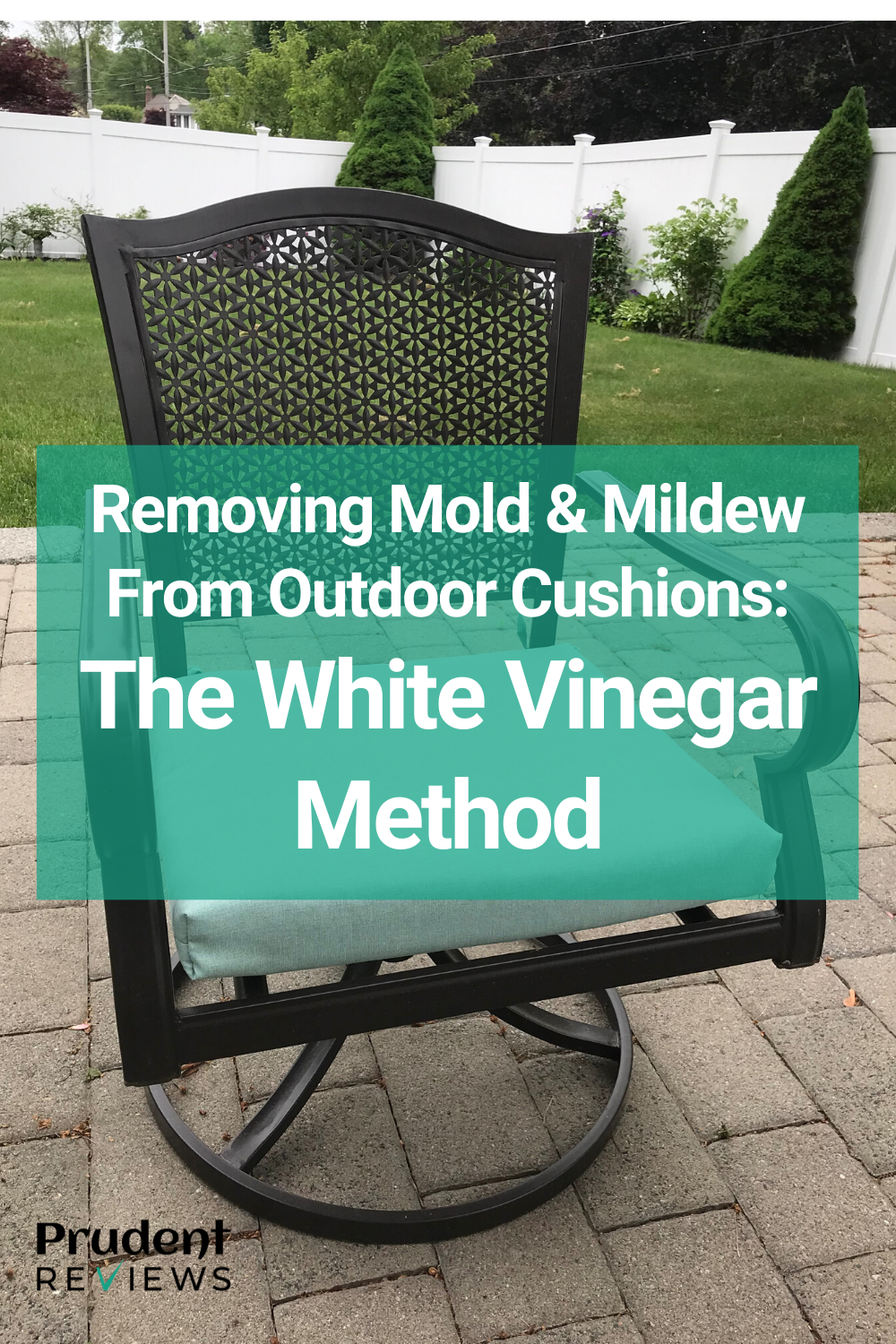 How To Remove Mold And Mildew From Outdoor Cushions Using White Vinegar Outdoor Cushions Patio Cushions Outdoor Mold Remover