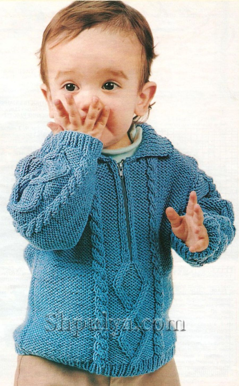 Вязание для новорожденных свитера и шапочки Cable, The Knitter 54