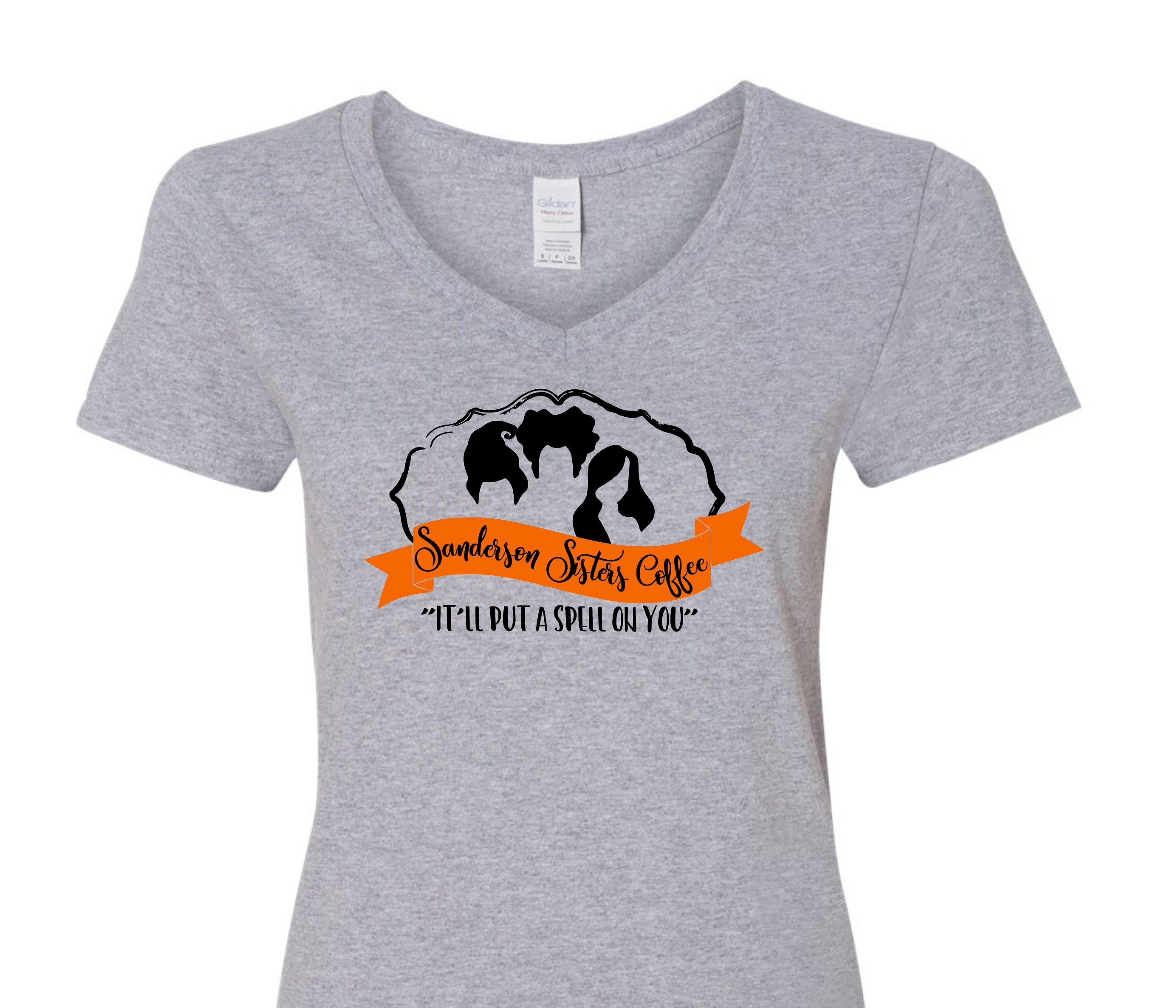 "Funny Halloween or Fall shirt - ""Sanderson Sisters Coffee ..."