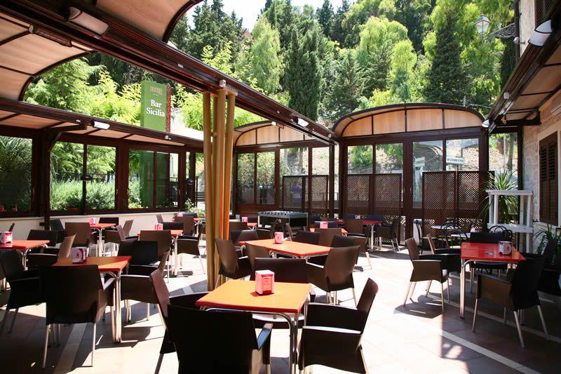 Restaurant Bar Sicilia1 Outdoor awnings, Retractable