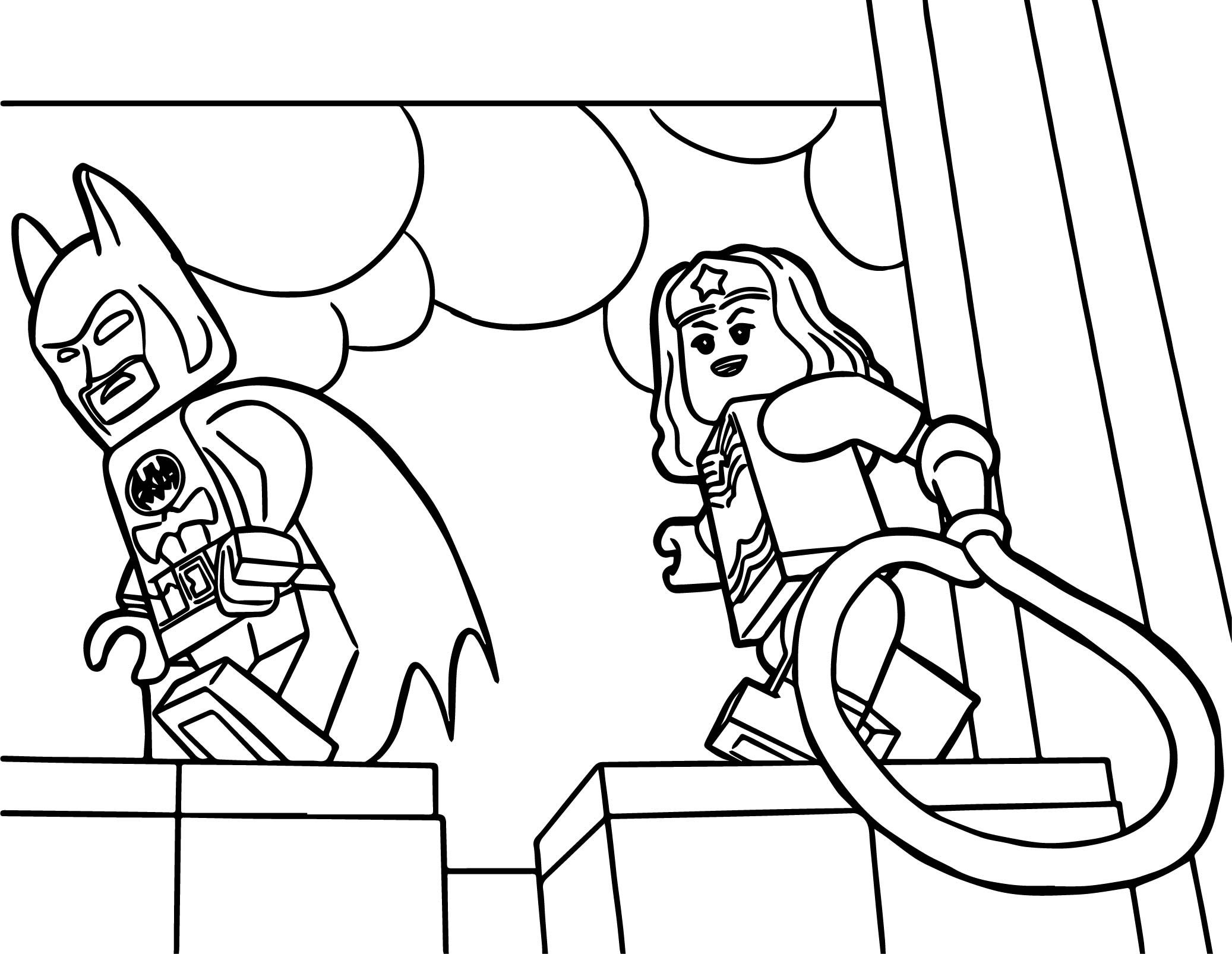 cool Lego Wonder Woman Coloring Pages | Lego coloring ...