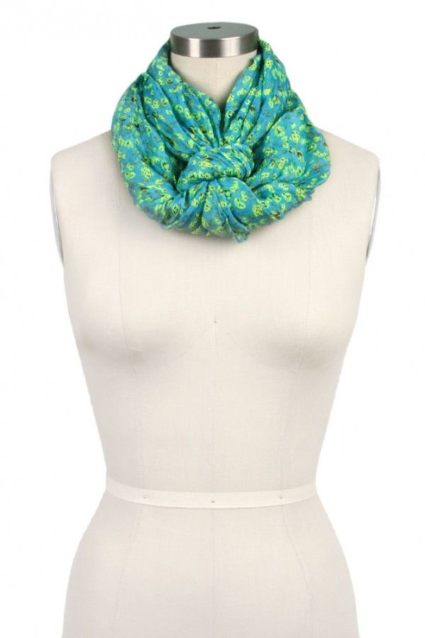 Floral Print Infinity Scarf--different tying idea
