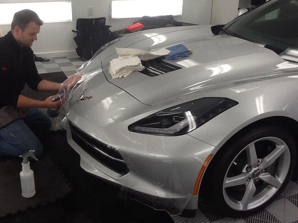 Joe installing the bumper. Chevy corvette, Corvette c7