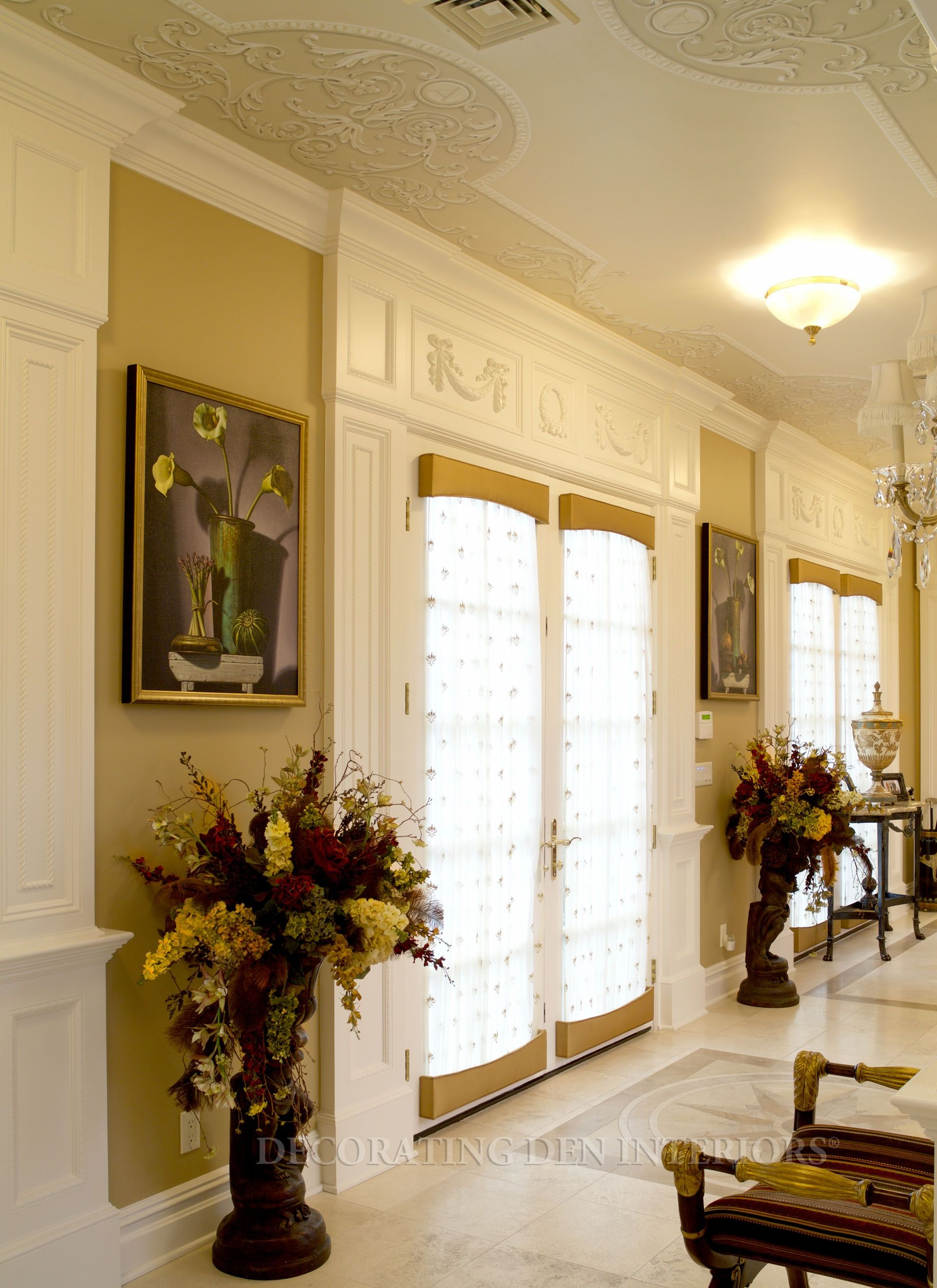 French Door Window Treatments Cover Both The Top And Bottom Of