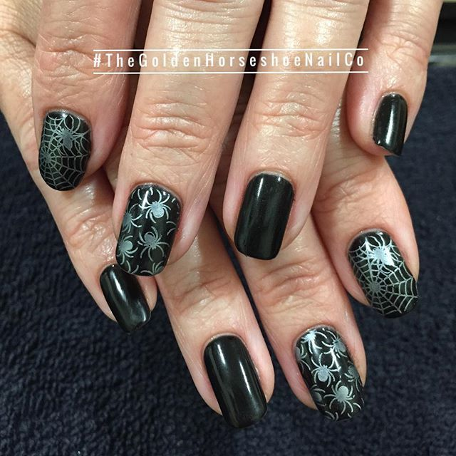 Halloween Manicure Nail Art Thegoldenhorseshoenailco Broadwaysalonstudios Manicure Nail Art Nails Co