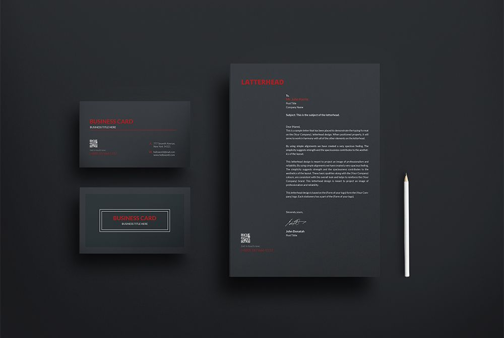 Awesome Business Card and Letterhead Mockup Free PSD. Download ...
