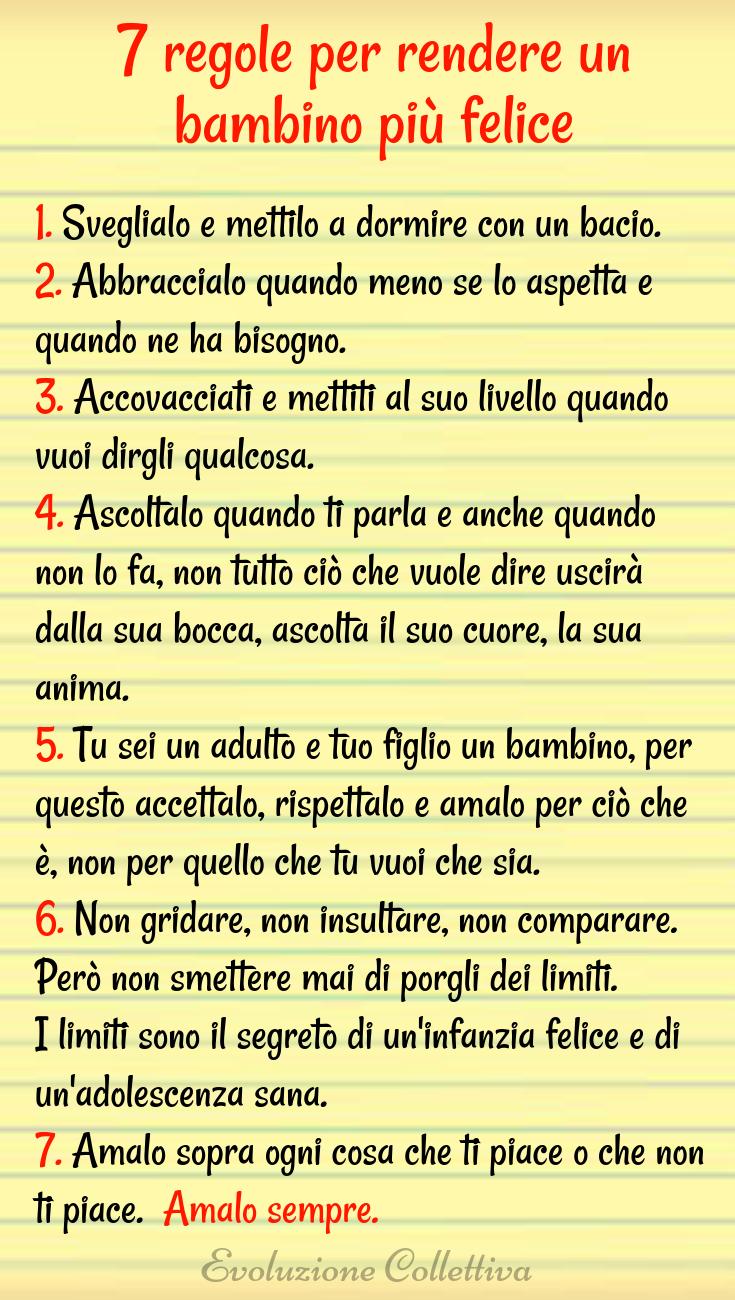 7 Regole Per Rendere Un Bambino Felice Autostima Bambini Consigli Per Genitori Educazione Bambini