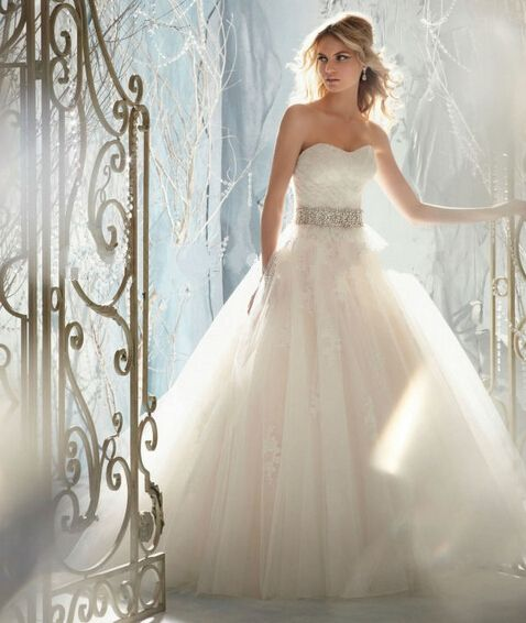 Low Waist Wedding Gowns: Directsale 2015 Hot Pink Satin And Tulle With Beading Sash