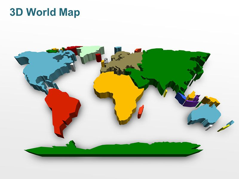 Editable powerpoint map 3d world map editable powerpoint maps editable powerpoint map 3d world map gumiabroncs Images