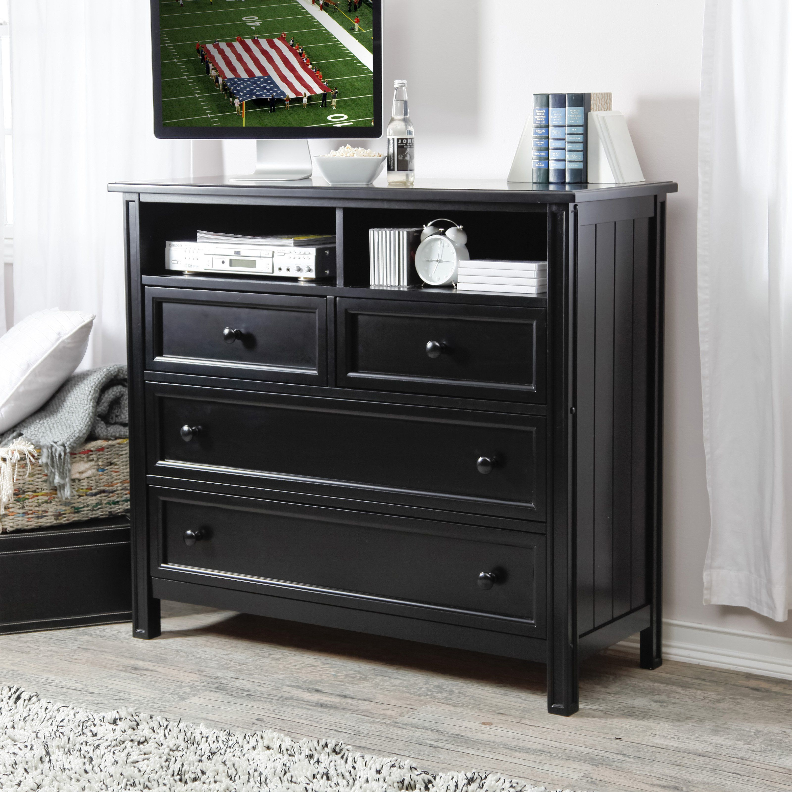 Have to have it. Belham Living Casey Media Chest - Black - $499.99 ...