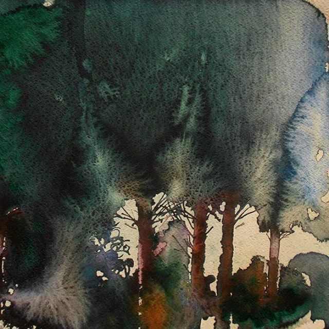 【endre_penovac】さんのInstagramをピンしています。 《Walk in the Forest #watercolor #aquarelle #aquarela #endrepenovac #walk #forest #tree #nature_perfection #healthylifestyle #saatchi #art #gallery #endre #penovac #artist #arches #greenforest #акварель #арт #森林 #艺术 #水彩 #erdő #művészet》