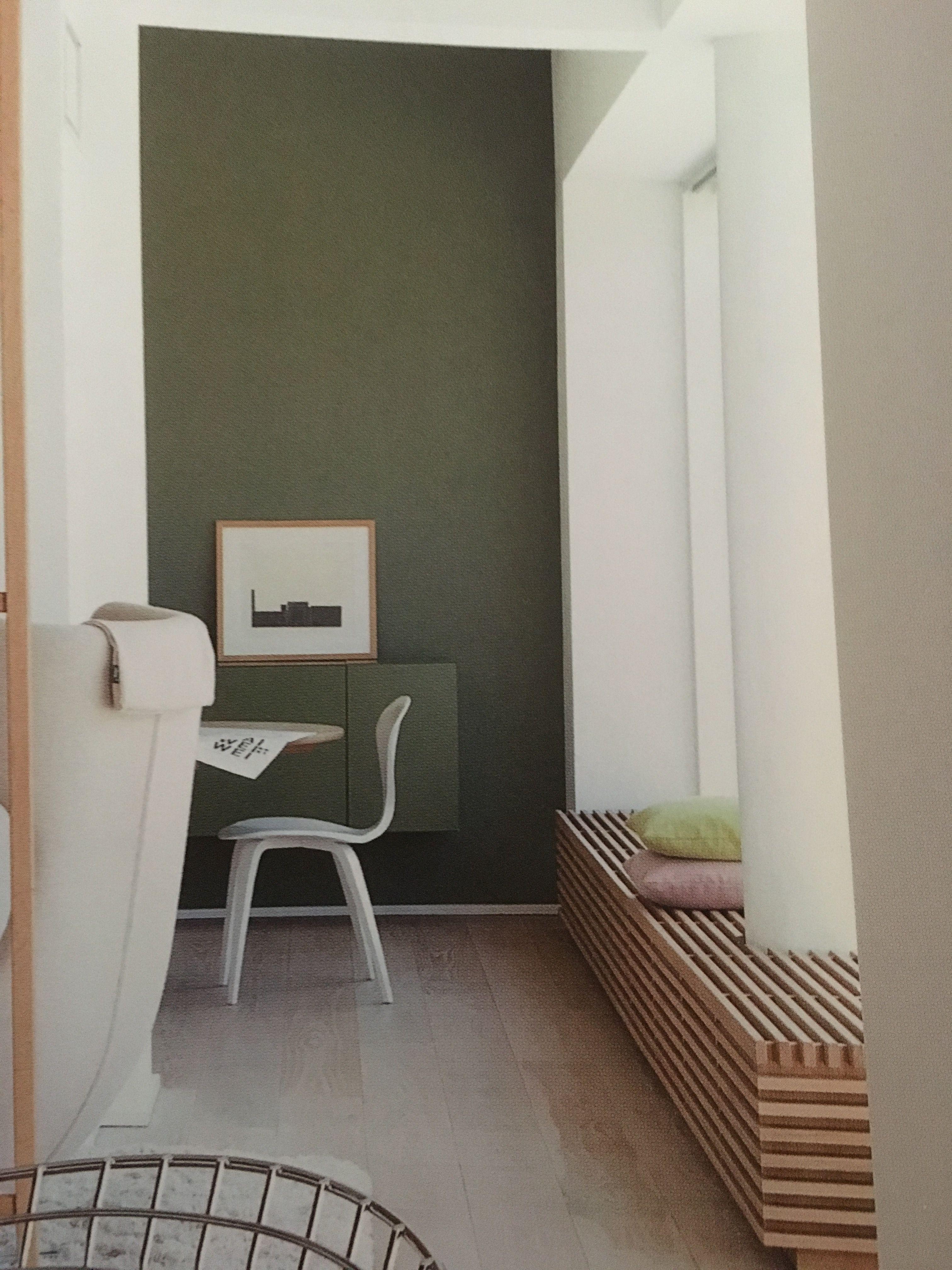 Olive green wall for old kitchen 인테리어, 벽, 올리브 그린