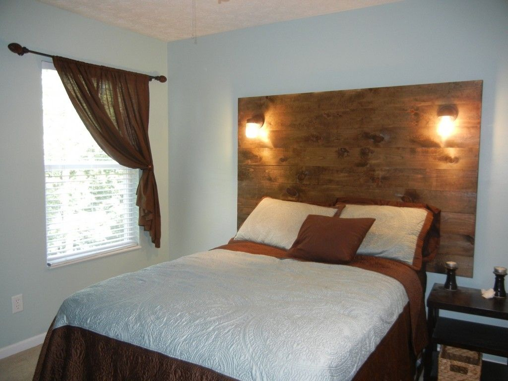 Diy wood headboard for guest bedroom great for small room without