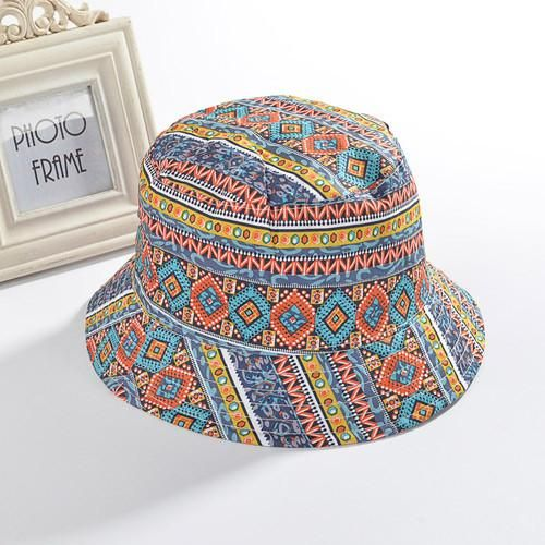 cd585b43ec4 Fashion floral fisherman cap bob chapeau brand summer bucket hat for women  hip hop