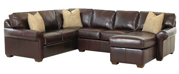 Bradley Leather Sectional With Chaise Option