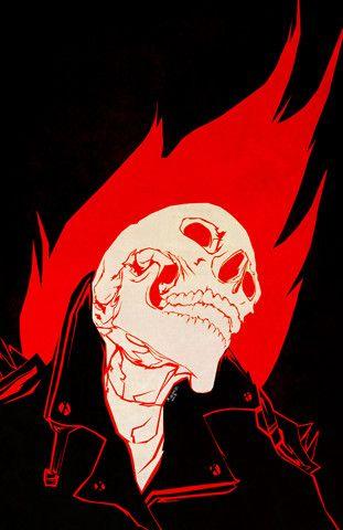 """""""Blaze"""" by m.ENGER #ghostrider #comics #characterdesign #marvel #skull #poster #design #illustration #silkscreen"""