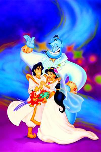 GENIE, ALADDIN & JASMINE ~ Aladdin, 1992 | Movie weddings ...
