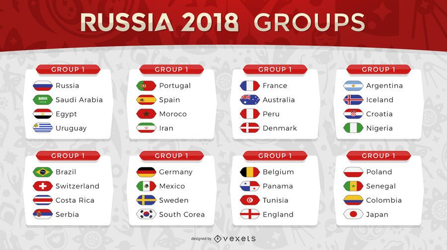 Russia 2018 World Cup Design Featuring Every Team Playing The Groups And More Information Russia 2018 Logo And Elements Can O World Cup Russia Brazil Germany