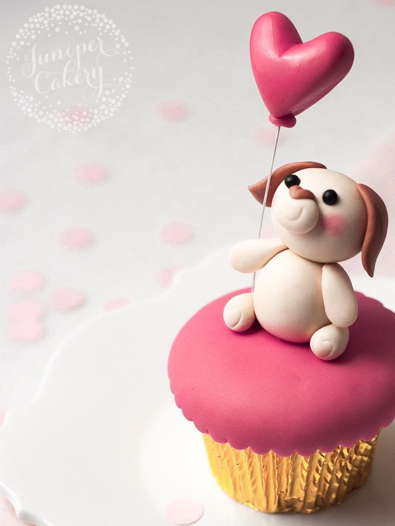 Valentine S Day Puppy Love Cupcake Tutorial By Juniper Cakery