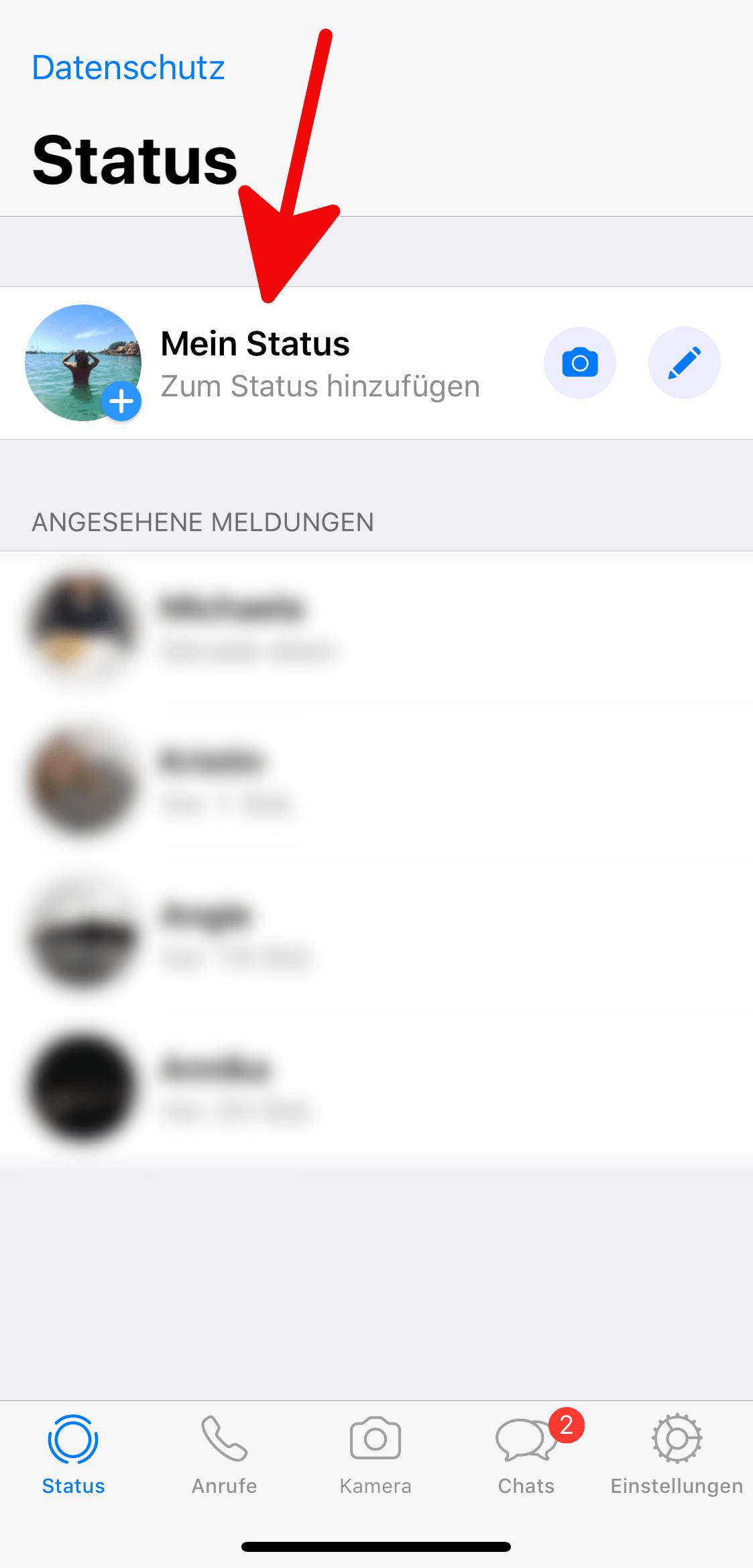 Neuer Status Whatsapp Whats App Tricks Whatsapp Tricks