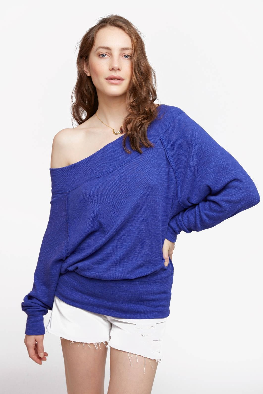 7f6eb8fb6768c Free People Palisades Off-Shoulder Thermal Top