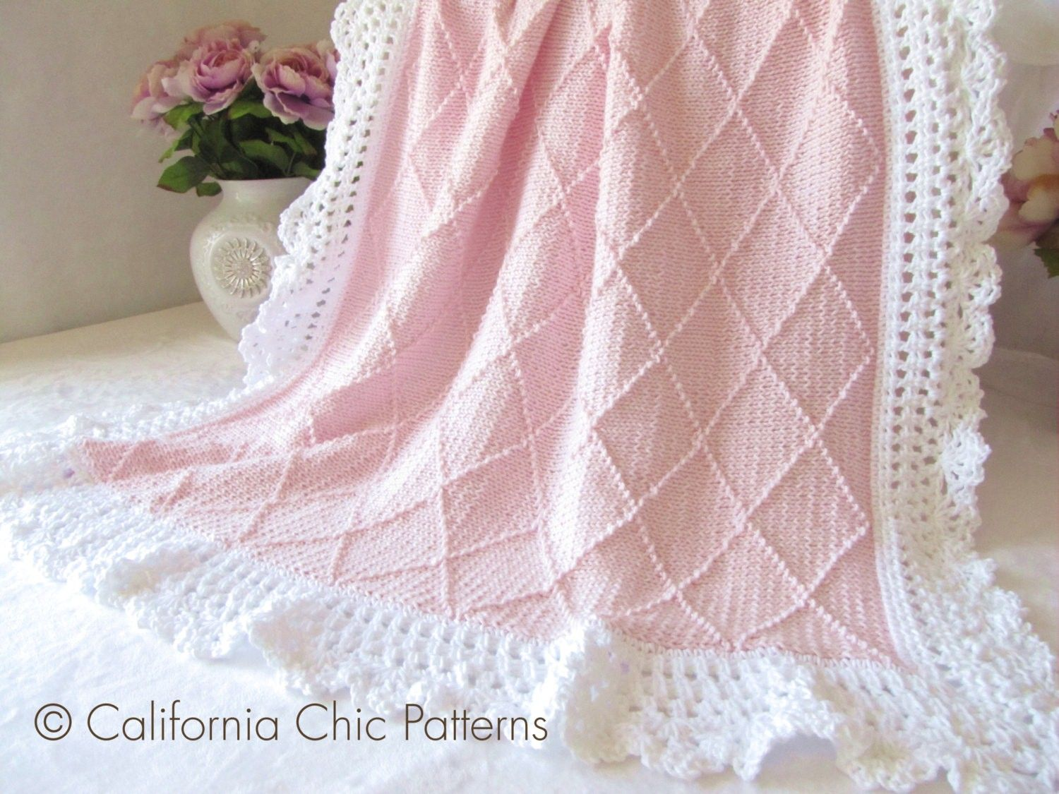 free knitting patterns for baby blankets pinterest | My Crochet ...