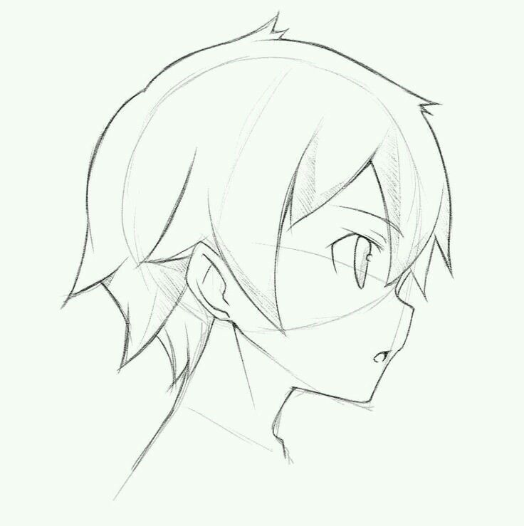 anime male face - 736×739