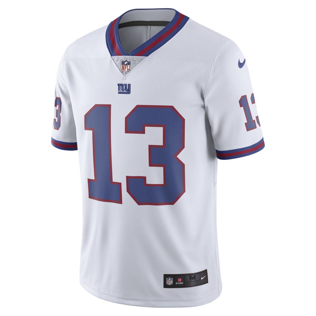 4f81111984d NFL New York Giants Color Rush Limited (Odell Beckham Jr.) Men s Football  Jersey Size 3XL (White)