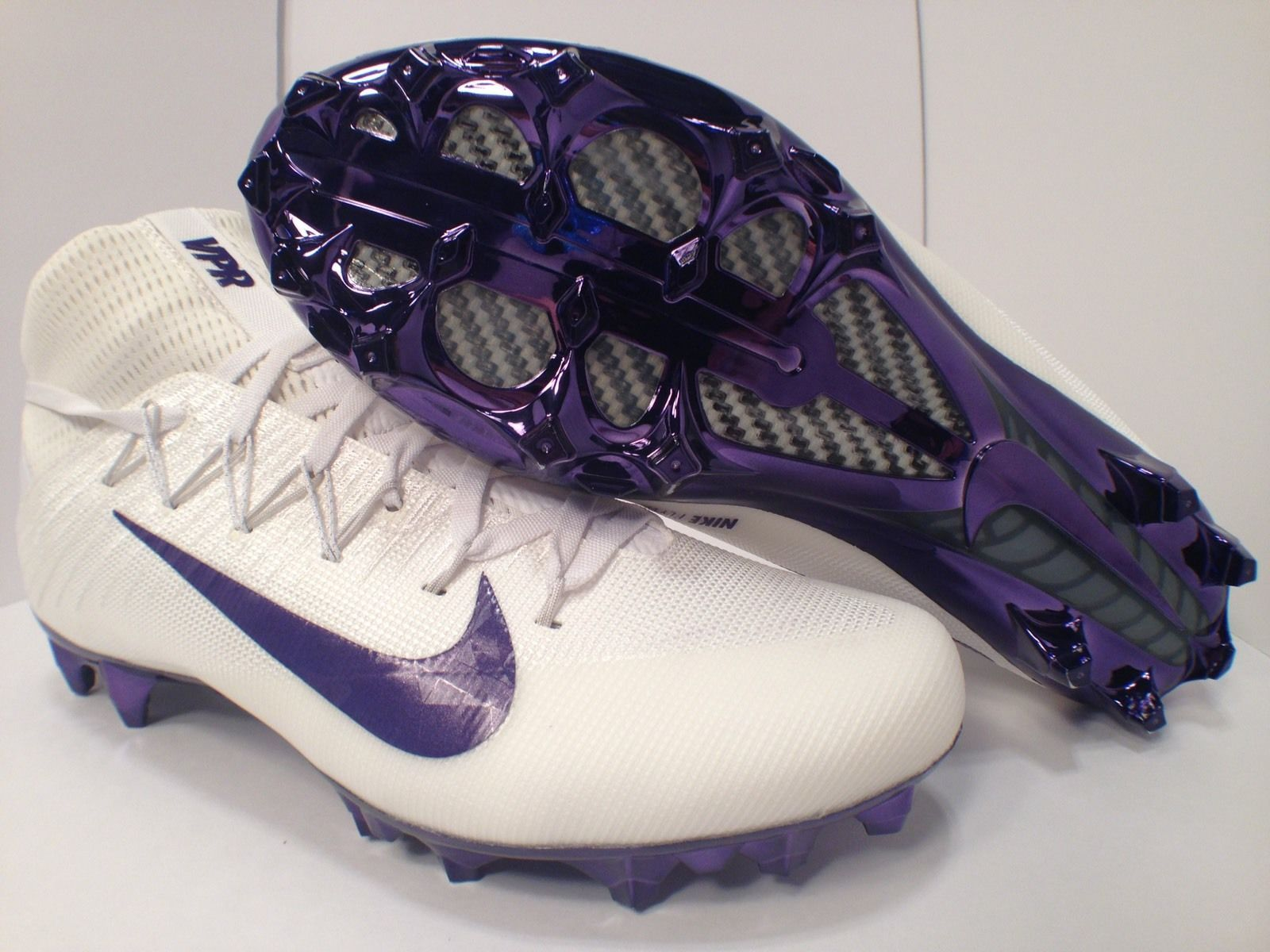 NIKE VAPOR UNTOUCHABLE 2 JEWELS FOOTBALL CLEATS SZ 11 WHITE PURPLE  555686664dccddfdfb8e09b602dc9197 360780620140307586. Nike Vapor One Leather  Official