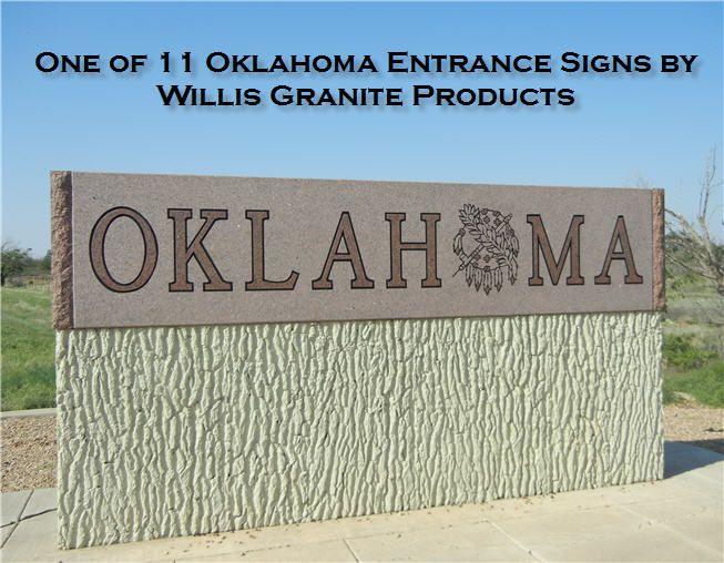 Oklahoma Entrance Sign Entrance Sign Entrance Oklahoma Usa