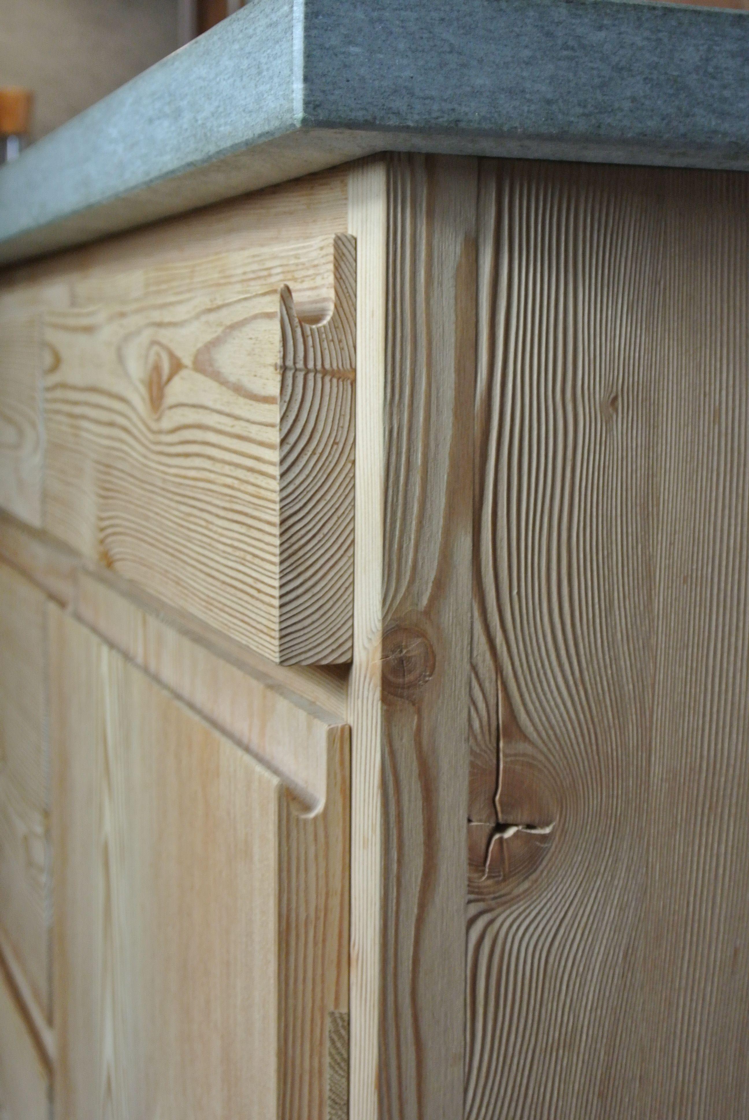 Kuche Aus Massivholz Innenarchitektur Kuche Larchenholz Dekorativer Beton