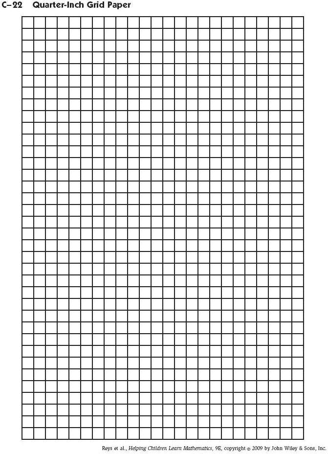 Half Inch Graph Paper Template Mm Blank Chart For Magic Needle