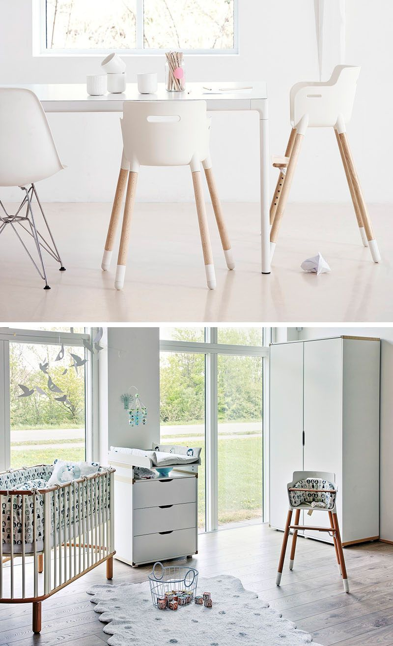 high chair wooden legs cover rentals florence sc 14 modern chairs for children artesano baby a simple white seat and beech wood give this timeless look which is good because it can be adjusted