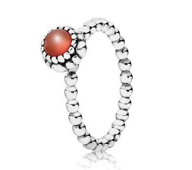 449d751dbdc1a Pandora Silver & Carnelion July Birthstone Ring 190854CAR - £40.00 ...
