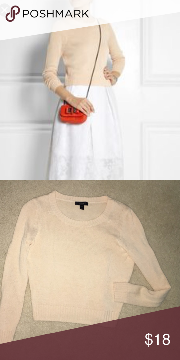 c078d7d9de9 JCrew cropped sweater Light tan cropped sweater. Sleeves are quite fitted  (with stretch)