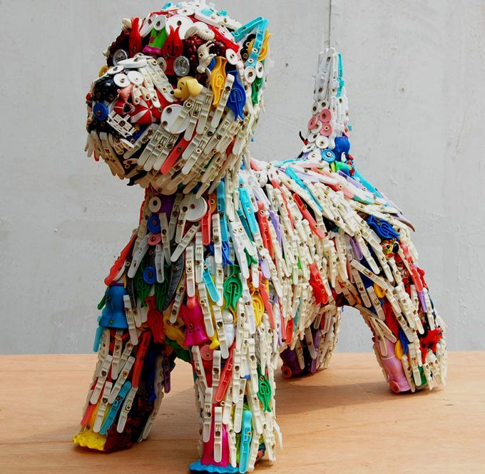 Peggy The Dog Recycled ToysRecycled MaterialsRecycled Art Projects3d
