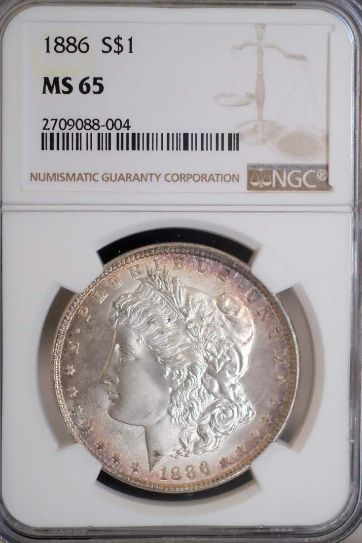 1886 NGC MS65 Morgan Silver Dollar $1 Gem BU https://t.co/2OCjvVKuzU https://t.co/xHsGBsqrLM