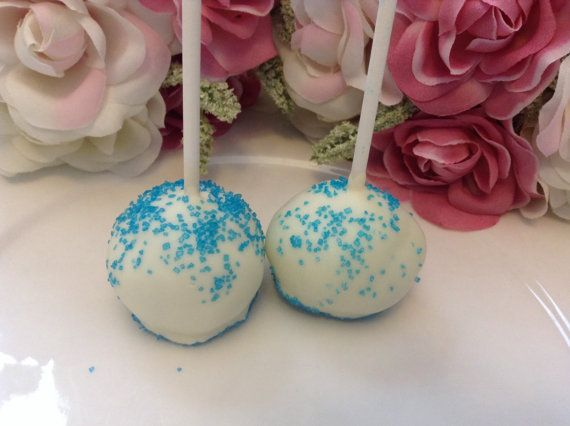 Boy Baby Shower Favors 12 Cake Pops Boy by PartyTimeChocolates, $18.00