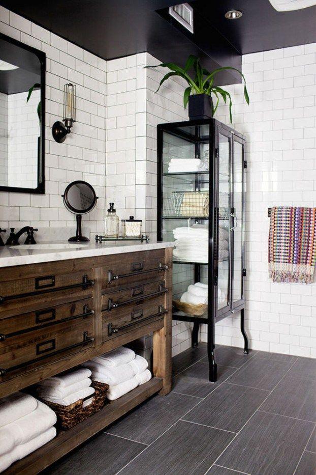 20 salles de bains design au charme vintage et industriel Baños