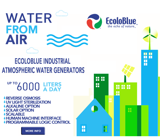 EcoloBlue Water from Air Water AtmosphericWaterGenerator