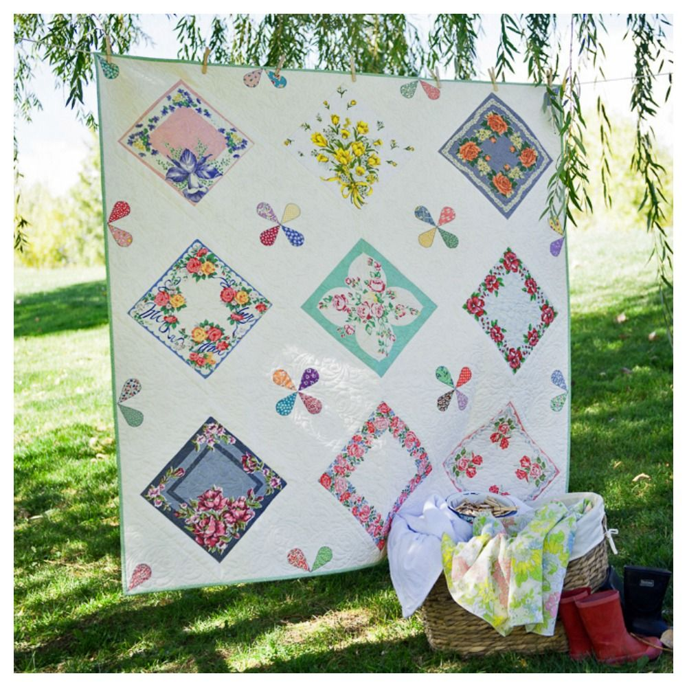 Raindrops Vintage Hankie Quilt Pattern From New Book For Keeps