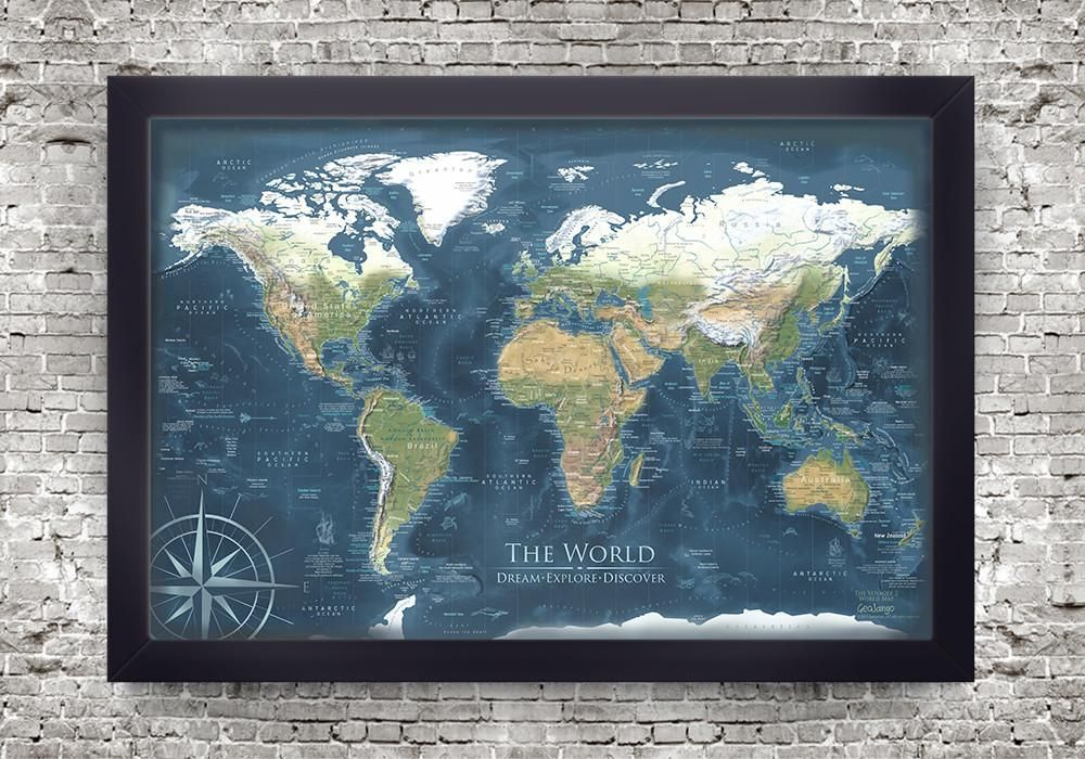 Voyager 2 world map framed pin board map geojango maps world voyager 2 world map framed pin board map geojango maps gumiabroncs Images