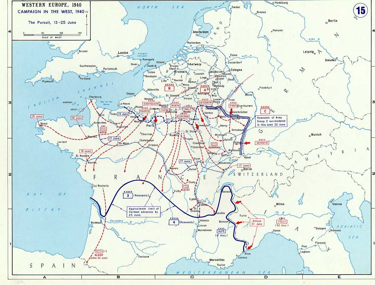 Map Of France During World War Ii.Today In World War Ii History June 25 1940 1945 Wwii On