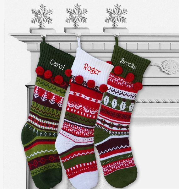 Knit Christmas Stockings Personalized Fair Isle by eugenie2 | home ...