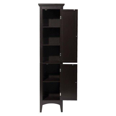 Slone 2 Door Shuttered Linen Cabinet Elegant Home Fashion Elegant Home Fashions Elegant Homes Linen Cabinet