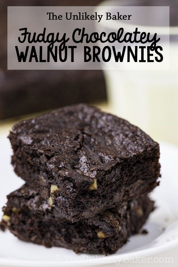 Fudgy Walnut Brownies with Chocolate Chips (Video) [VIDEO] These fudgy walnut brownies are what pro