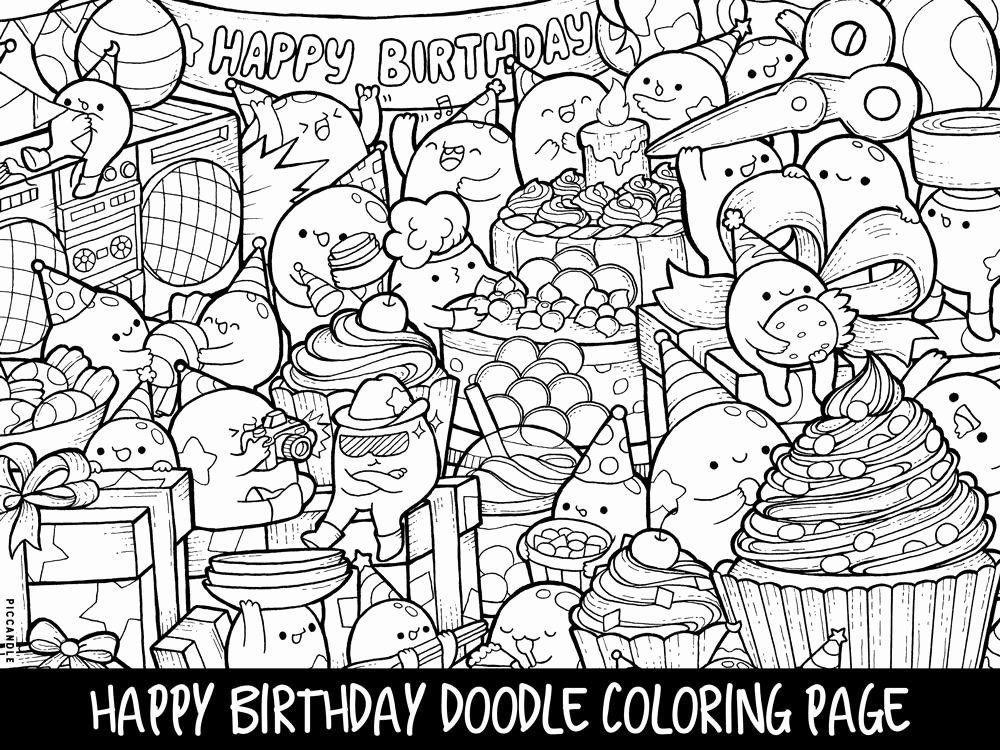Pin By Tana Herrlein On Coloring Pages Doodles Happy Birthday Coloring Pages Birthday Coloring Pages Happy Birthday Doodles