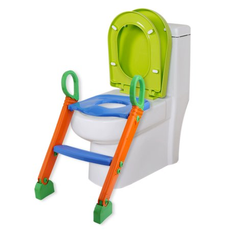 Incredible Folding Kids Toddler Toilet Potty Training Seat With Step Creativecarmelina Interior Chair Design Creativecarmelinacom