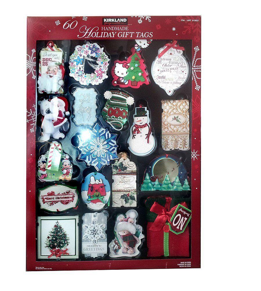 Kirkland signature 60 handmade 3d holiday gift tags